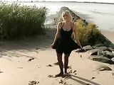 Blowjob and Fuck at the Beach with Hot Blonde Girlfriend