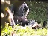 Young Couple Surprised in Park During Sex on Voyeur Camera
